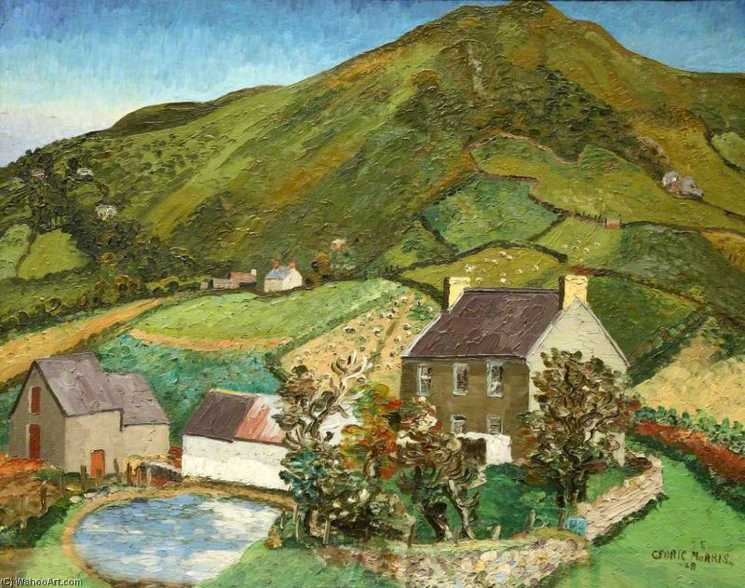 Llanmadoc Hill, Gower, Oil On Canvas by Cedric Lockwood Morris (1889-1982, United Kingdom)