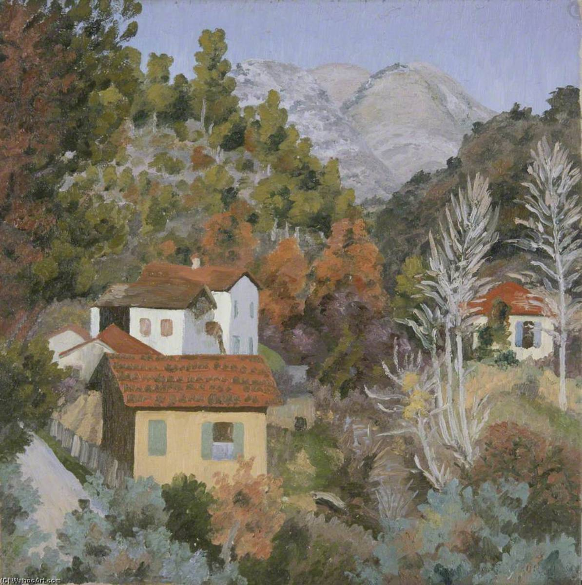 Near Cagnes by Cedric Lockwood Morris (1889-1982, United Kingdom) | Museum Quality Reproductions | WahooArt.com