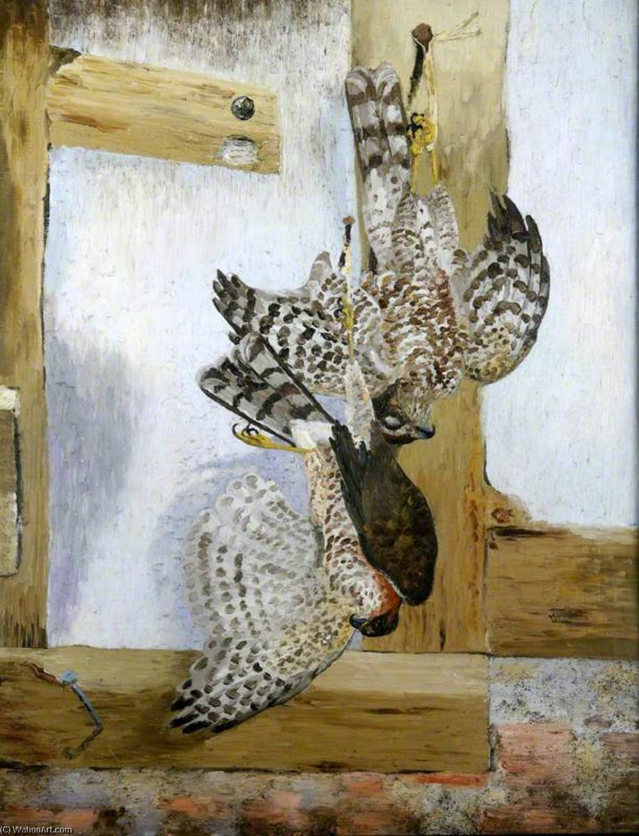 The Sparrow Hawks, Oil On Canvas by Cedric Lockwood Morris (1889-1982, United Kingdom)