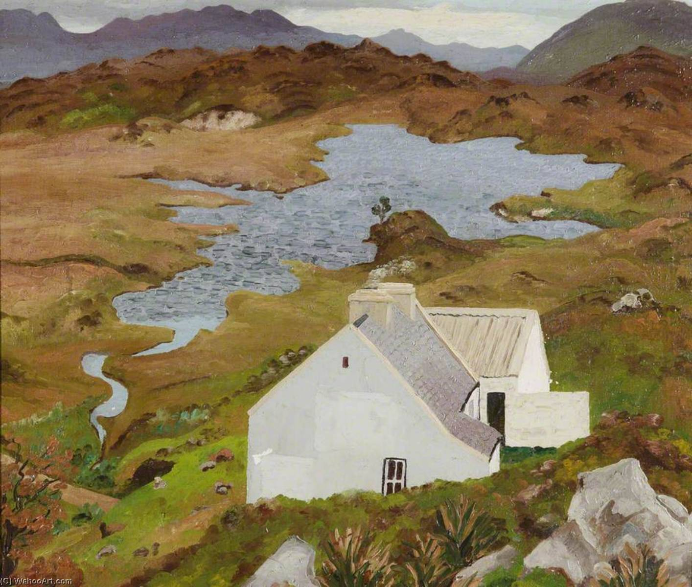 Connemara Landscape, Ireland, Oil On Canvas by Cedric Lockwood Morris (1889-1982, United Kingdom)