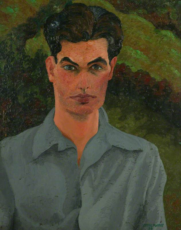(George) Loraine Conran (1912–1986), 1934 by Cedric Lockwood Morris (1889-1982, United Kingdom) | Museum Quality Reproductions | WahooArt.com