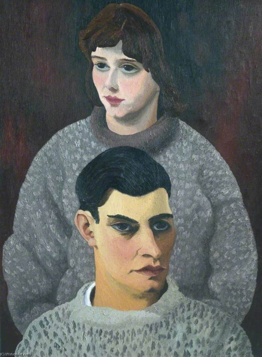 David and Barbara Carr, Oil On Canvas by Cedric Lockwood Morris (1889-1982, United Kingdom)