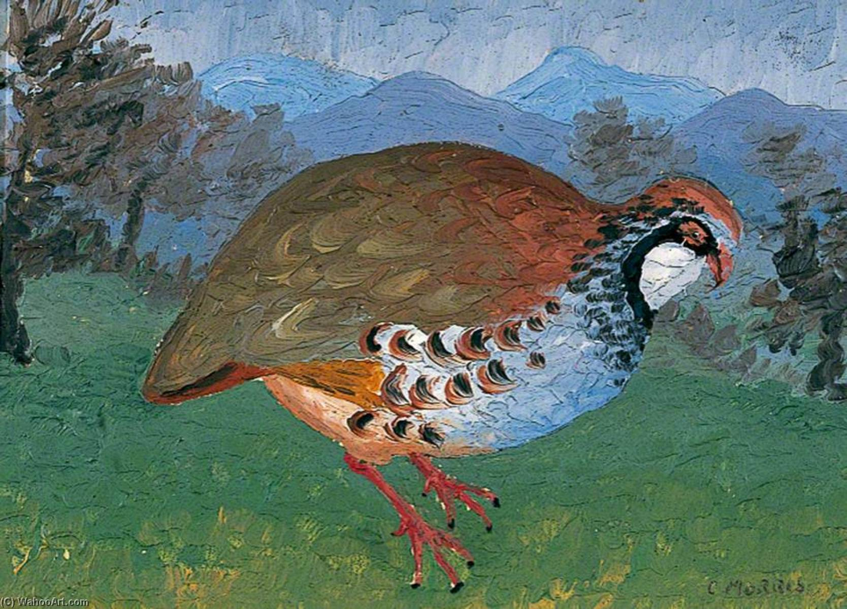 French Partridge, 1934 by Cedric Lockwood Morris (1889-1982, United Kingdom) | Museum Quality Reproductions | WahooArt.com
