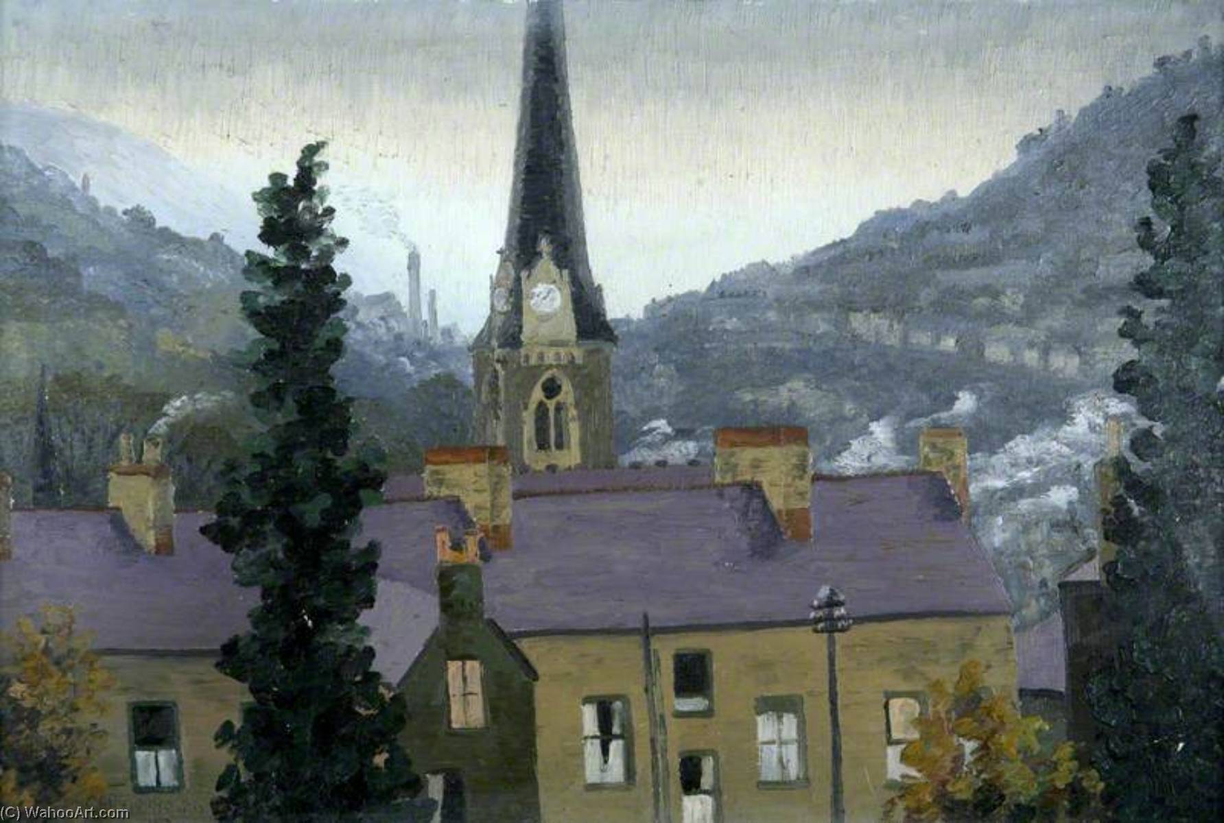 Pontypridd, 1945 by Cedric Lockwood Morris (1889-1982, United Kingdom) | Art Reproduction | WahooArt.com
