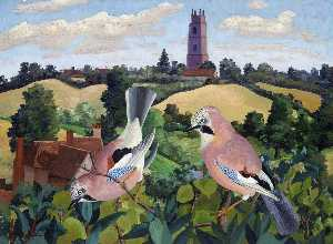 Cedric Lockwood Morris - Stoke by Nayland Church
