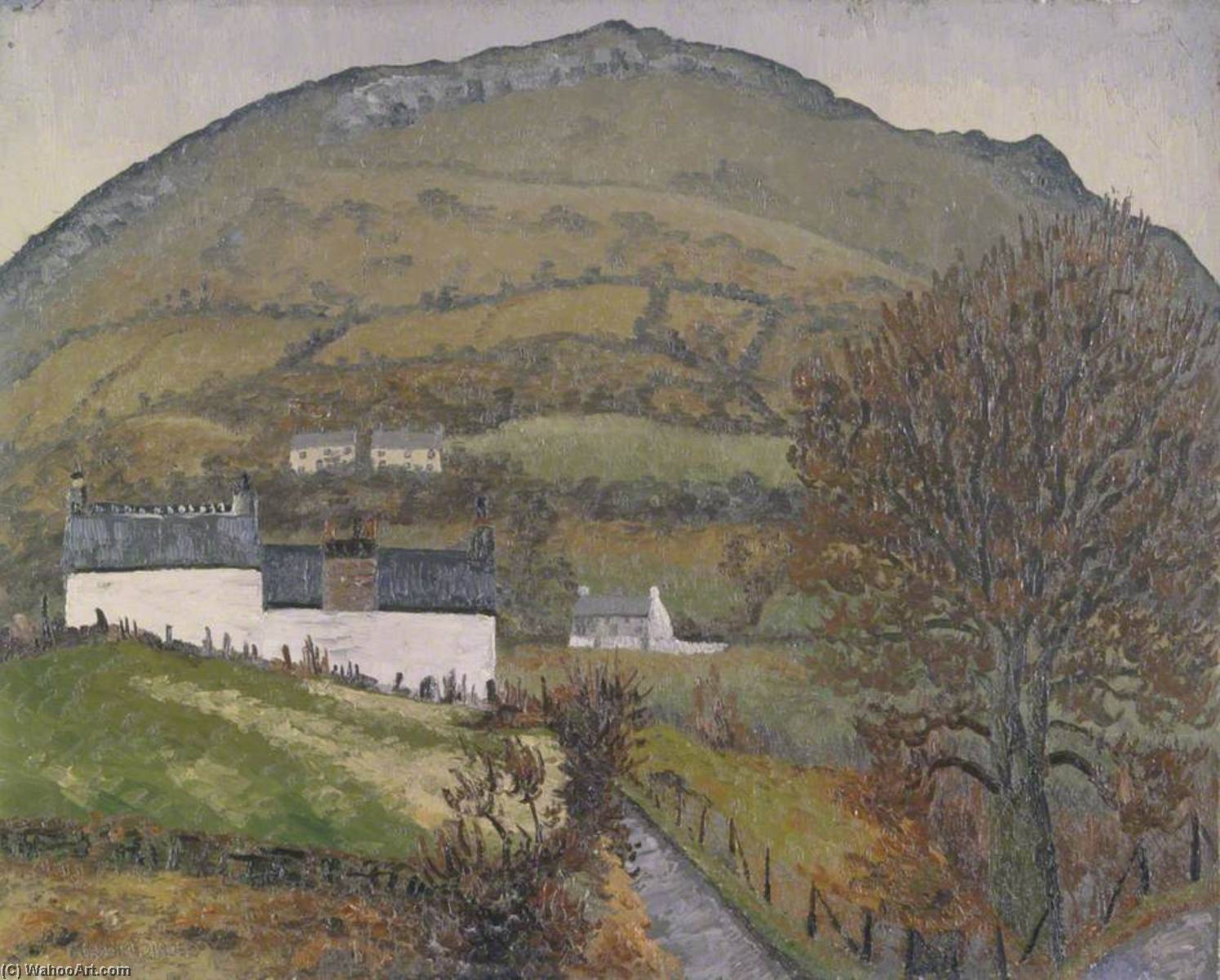 Crickhowell, Oil On Canvas by Cedric Lockwood Morris (1889-1982, United Kingdom)