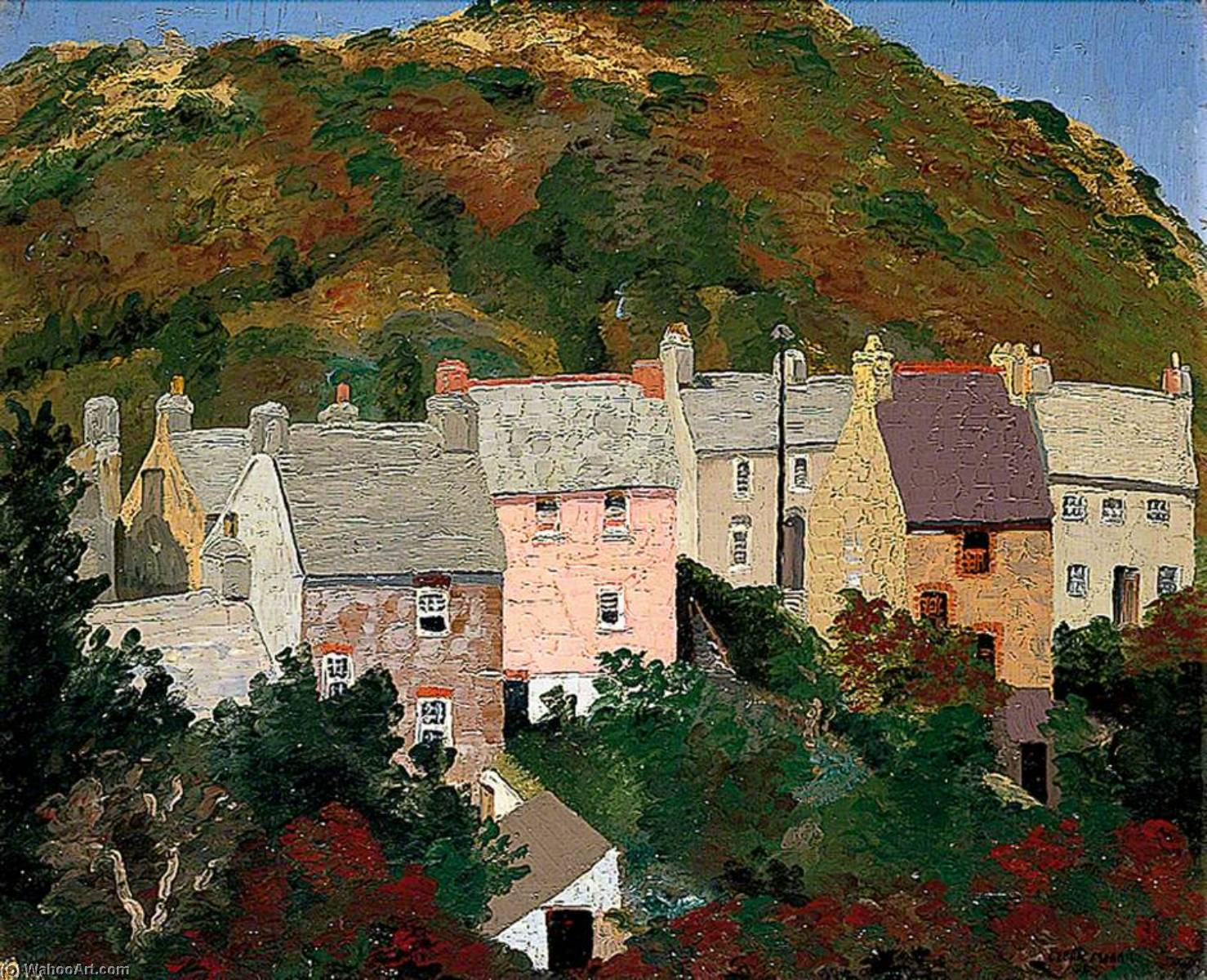 Solva, Pembrokeshire, Oil On Canvas by Cedric Lockwood Morris (1889-1982, United Kingdom)