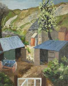 Cedric Lockwood Morris - The Farmyard, Dorset