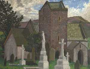 Cedric Lockwood Morris - Llangennith Church, Swansea