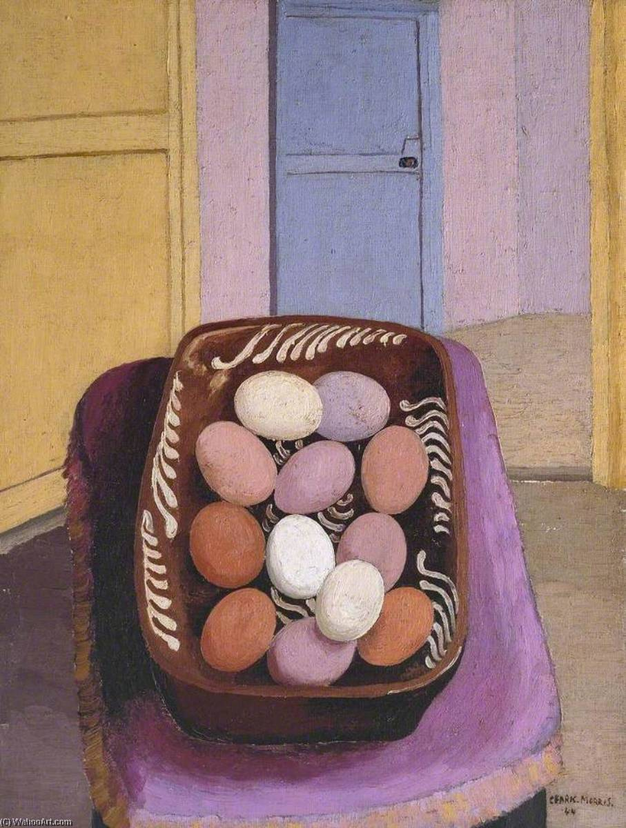 The Eggs, 1944 by Cedric Lockwood Morris (1889-1982, United Kingdom) | Museum Quality Reproductions | WahooArt.com