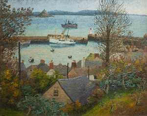 Cedric Lockwood Morris - The Scilly Packet Boat
