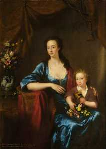 James Giles - Anne (1713–1791), Countess of Aberdeen, and Her Son, Lord William Gordon of Fyvie (1736–1816) (after William Mosman)