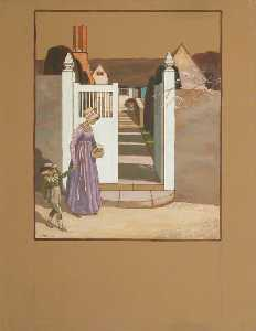 Charles Paget Wade - A Woman and Child before the Gates of a House, St Kitts