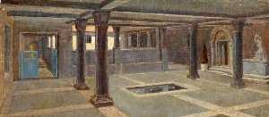 Charles Paget Wade - A Pillared Room with a Pool