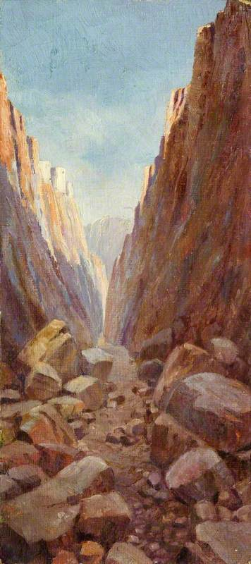 Rocky Landscape on St Kitts, Oil by Charles Paget Wade (1883-1956, United Kingdom)