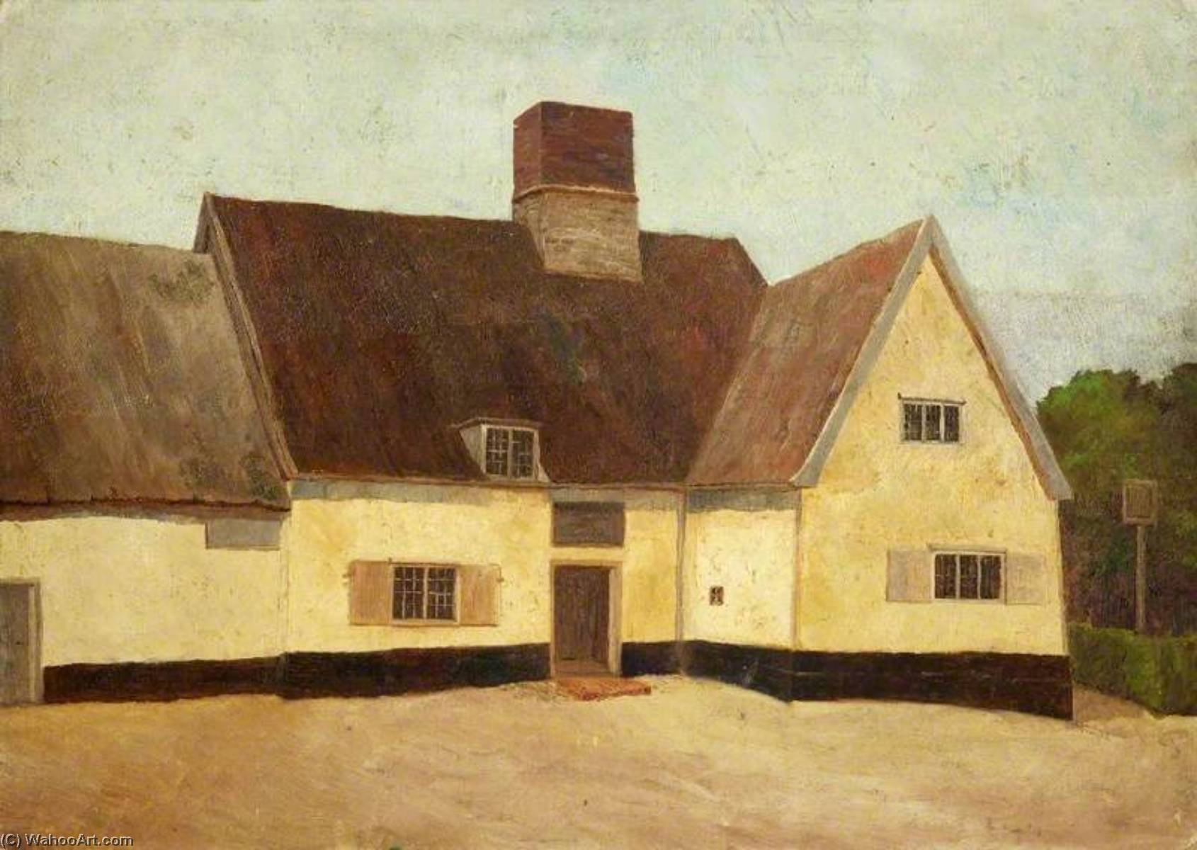 The 'King's Head', Yoxford, Oil by Charles Paget Wade (1883-1956, United Kingdom)