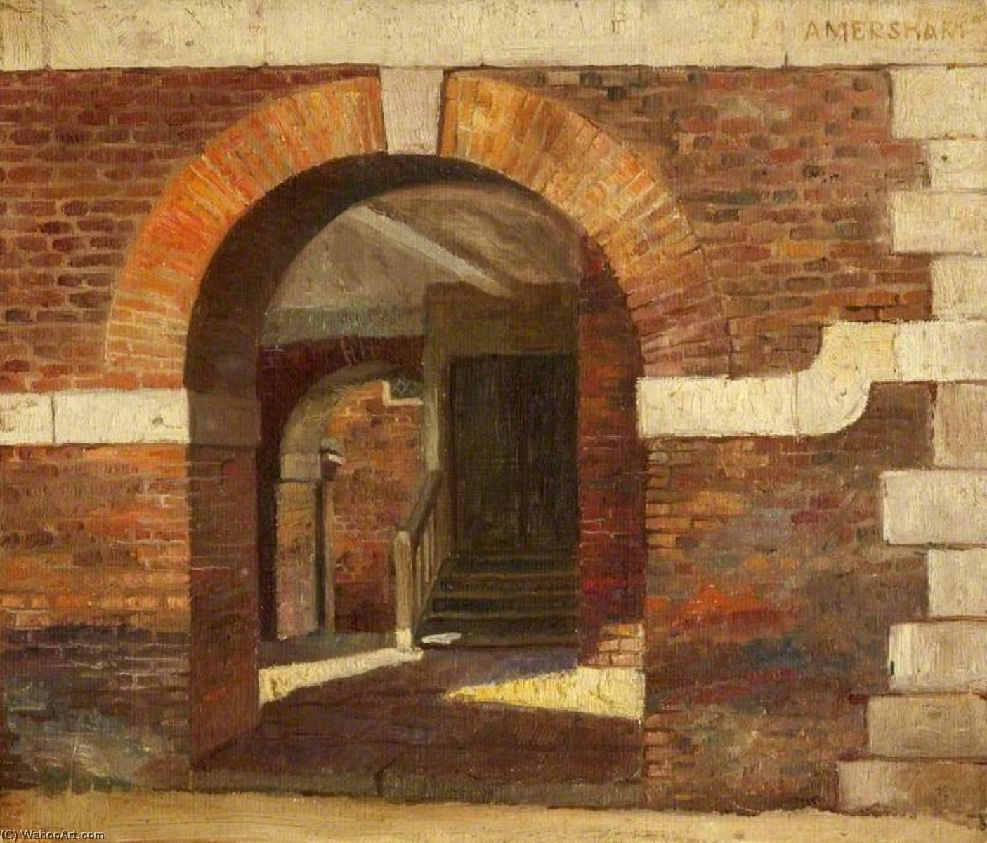 An Archway of the Market Hall, Amersham, 1908 by Charles Paget Wade (1883-1956, United Kingdom) | Museum Quality Reproductions | WahooArt.com