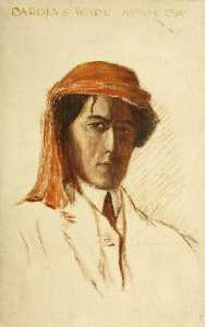 Charles Paget Wade - Self Portrait in a Turban (unfinished)