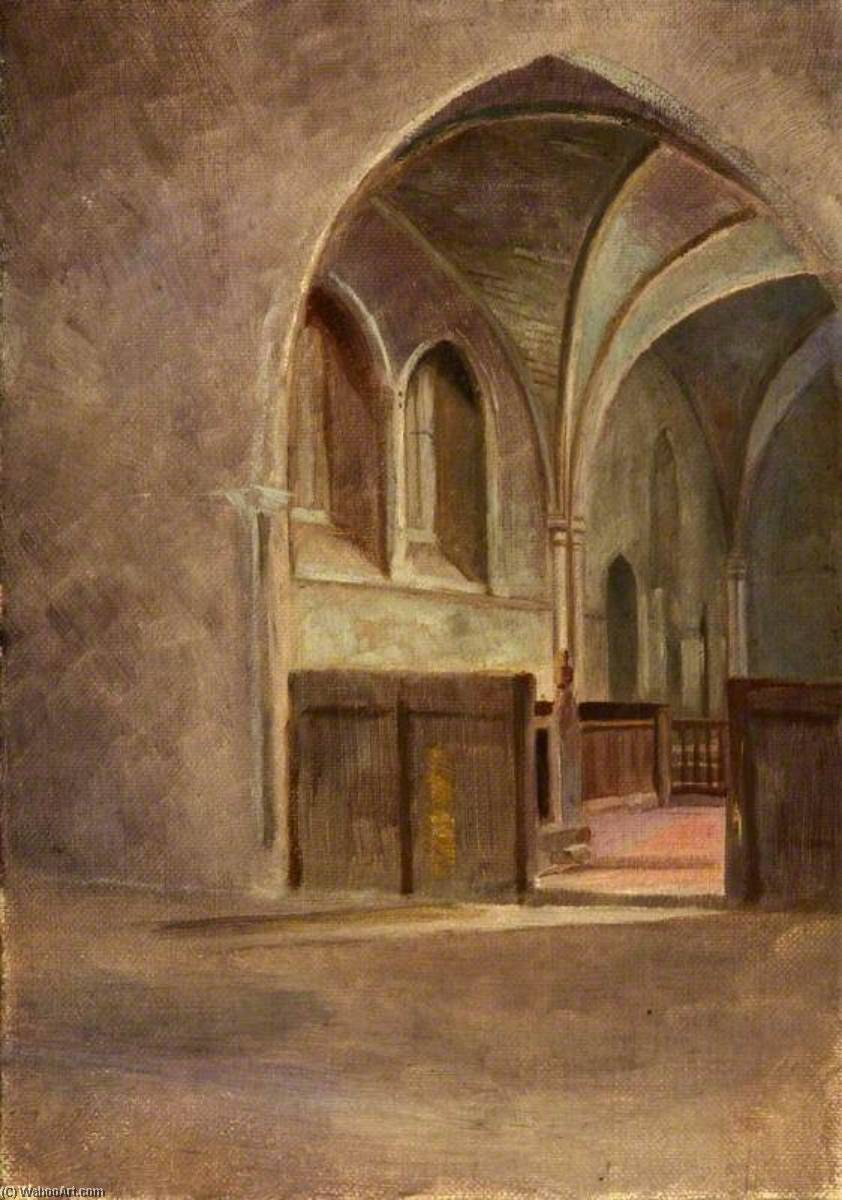 Interior of St Nicholas, Blakeney Church, 1909 by Charles Paget Wade (1883-1956, United Kingdom) |  | WahooArt.com