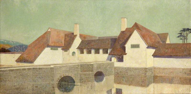 Almesbury Court, 1908 by Charles Paget Wade (1883-1956, United Kingdom) |  | WahooArt.com