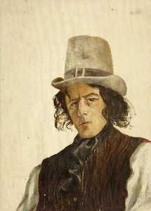 Charles Paget Wade - Self Portrait in a Grey Hat