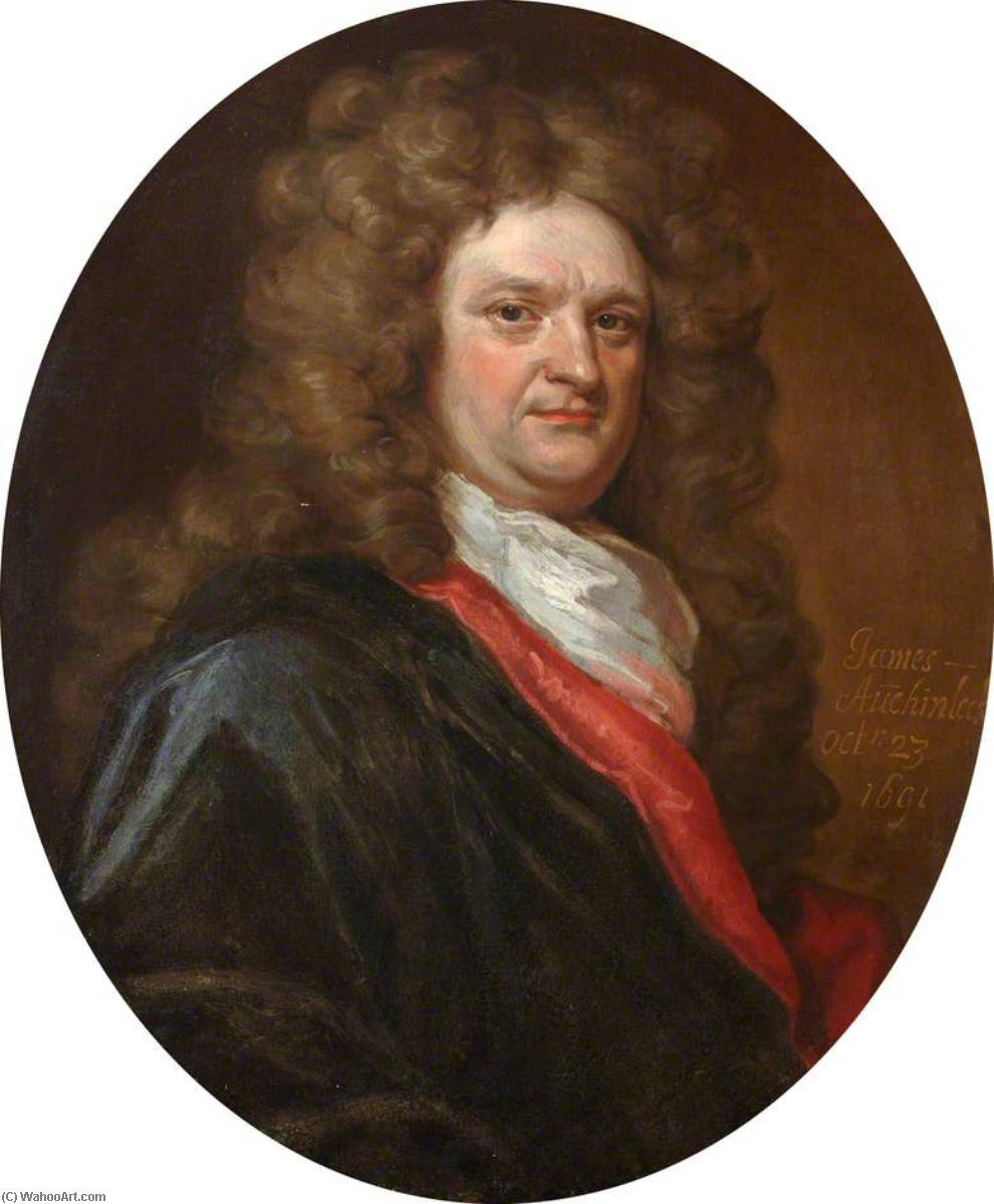 Order Museum Quality Reproductions : James Auchinleck (1651–1720 ), FRCSEd (1691), 1700 by John Baptist De Medina | WahooArt.com