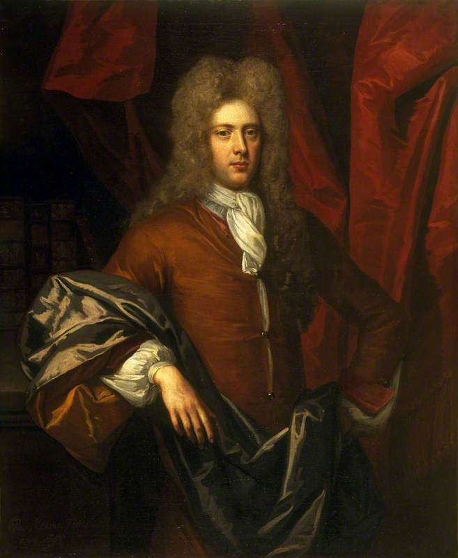James Ogilvy (1663–1730), 1st Earl of Seafield, Lord Chancellor, Oil On Canvas by John Baptist De Medina