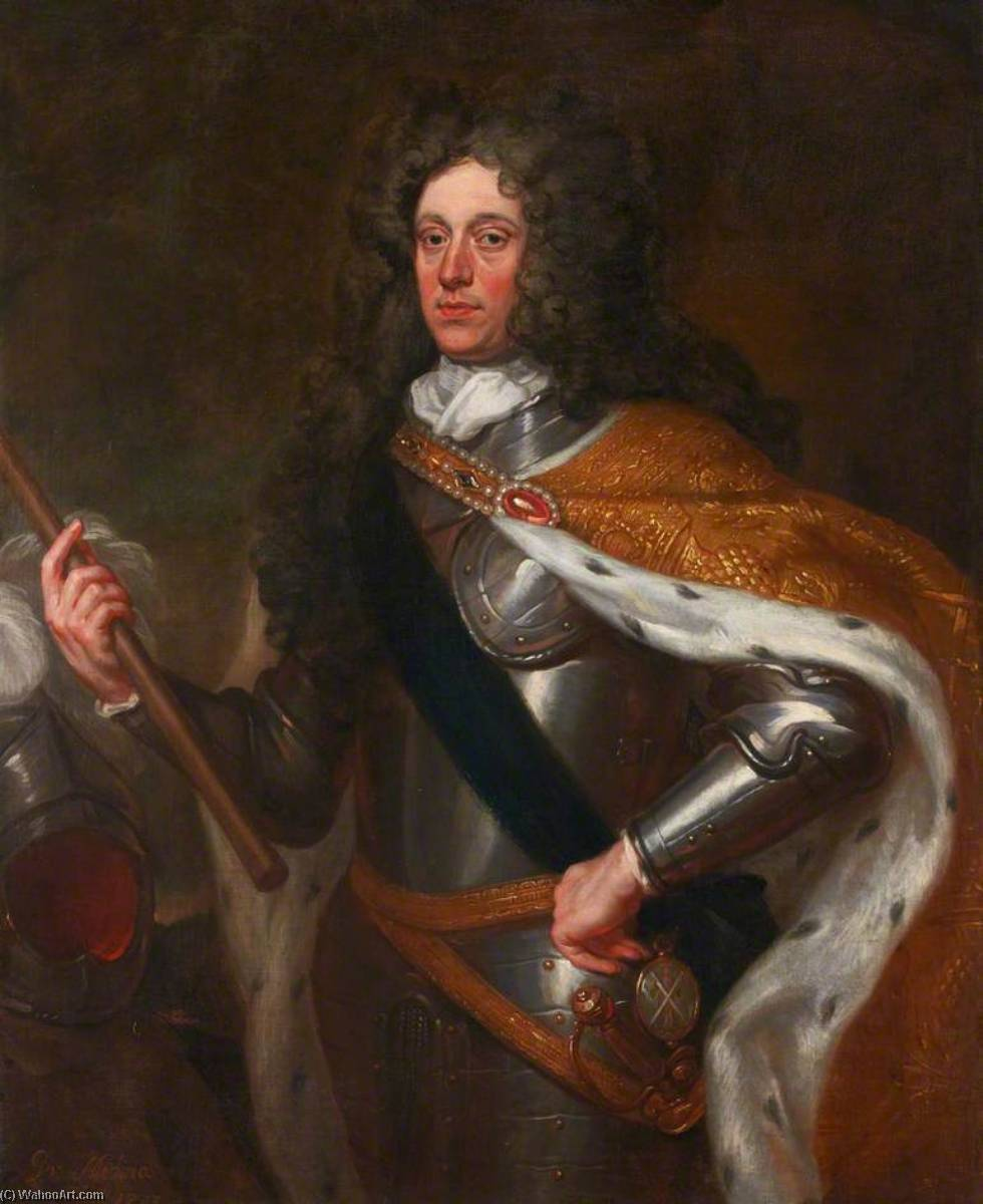 James Douglas (1658–1712), 4th Duke of Hamilton, Hon. FRCSEd (1700), 1703 by John Baptist De Medina | Museum Quality Reproductions | WahooArt.com