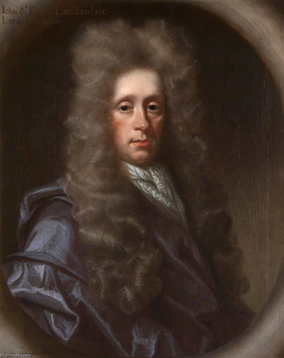John Lauder (d.1710), 5th Earl of Lauderdale, Lord of Session, Oil On Canvas by John Baptist De Medina