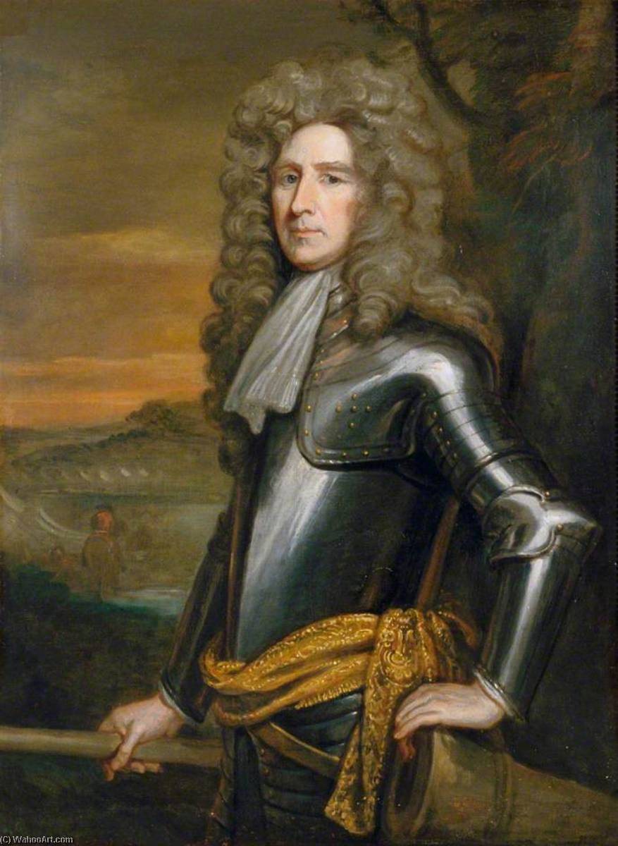 Henry Sidney, 1st Earl of Romney (1641–1704), Envoy to The Hague (1679–1681) by John Baptist De Medina | Art Reproduction | WahooArt.com