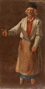 Luca Carlevaris - A Man Wearing an Apron