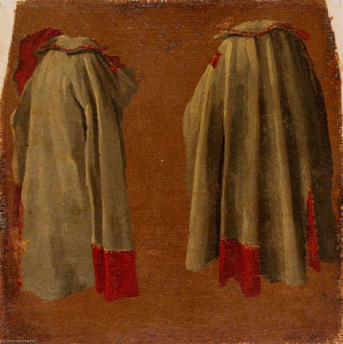 Two Costume Studies, Oil On Canvas by Luca Carlevaris (1663-1730, Italy)