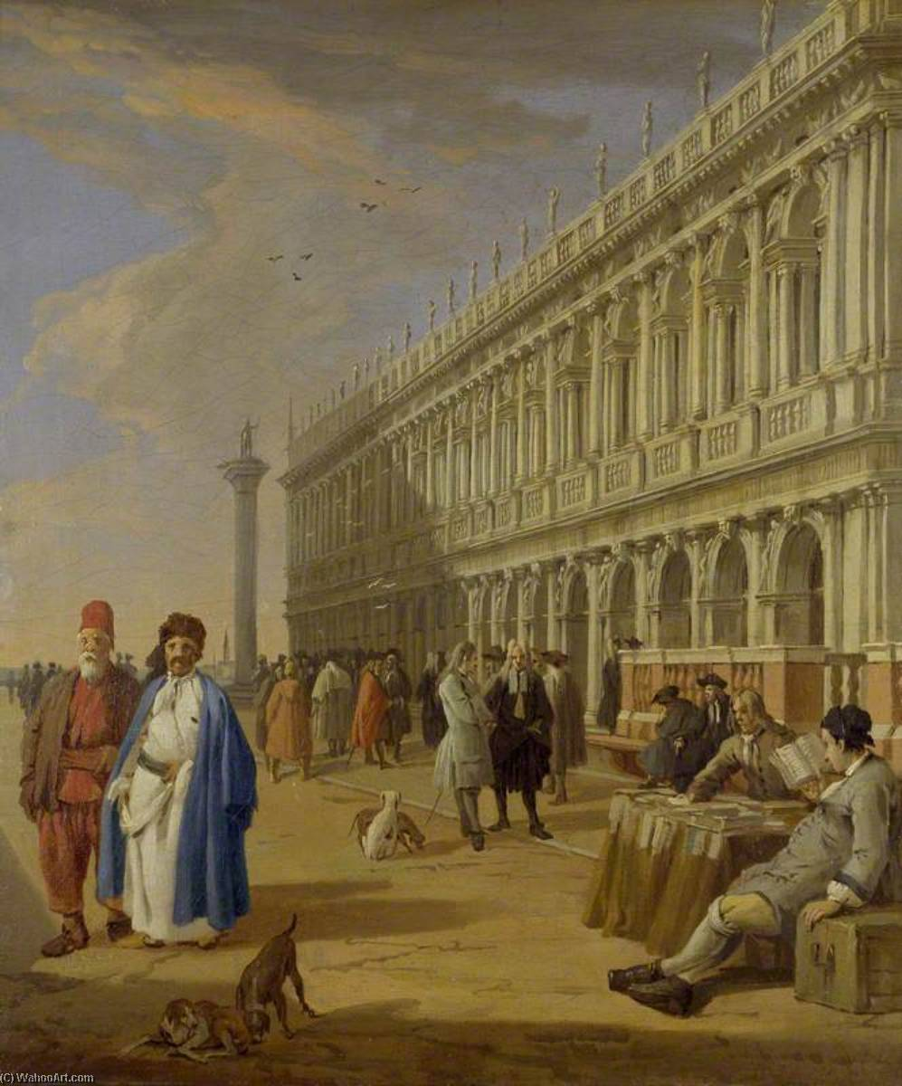 The Piazzetta, Venice, 1729 by Luca Carlevaris (1663-1730, Italy) | Museum Quality Reproductions | WahooArt.com