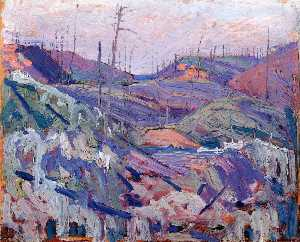 Tom Thomson - Fire Swept Hills