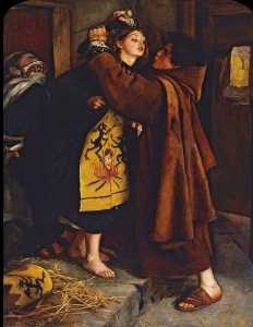 John Everett Millais - Escape of the Heretic, 1559