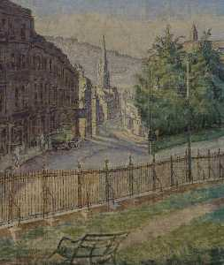 Thérèse Lessore - Walcot Street from Hedgemead, Bath
