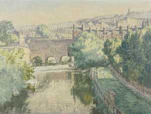 Thérèse Lessore - Pulteney Bridge over the Avon at Bath