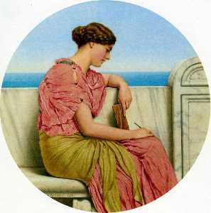 John William Godward - Distant Thoughts