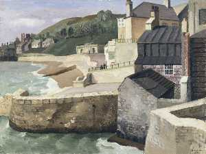 Richard Ernst Eurich - From the Old Walls, Lyme Regis