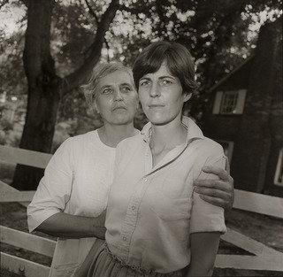 Christine Sander and Her Mother, Silver Spring, Maryland, 1978 by Rosalind Fox Solomon | Art Reproduction | WahooArt.com