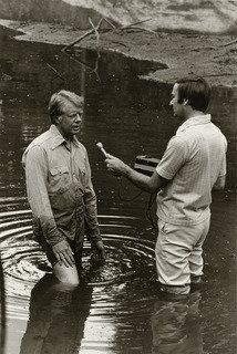 Jimmy Carter and Sam Donaldson, 1976 by Rosalind Fox Solomon | Painting Copy | WahooArt.com