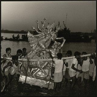 Immersion of Goddess Durga, Calcutta, India, Print by Rosalind Fox Solomon