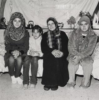 A Mother and Her Daughters, West Bank Palestine, Print by Rosalind Fox Solomon