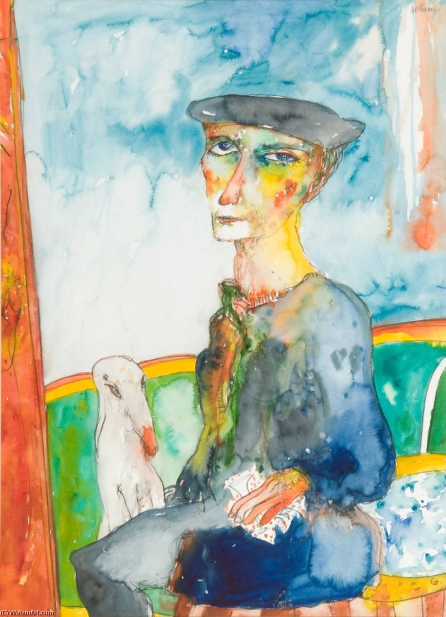 The Old Sailor Dreams of His Past, 1994 by John Bellany (1942-2013) | Museum Quality Reproductions | WahooArt.com