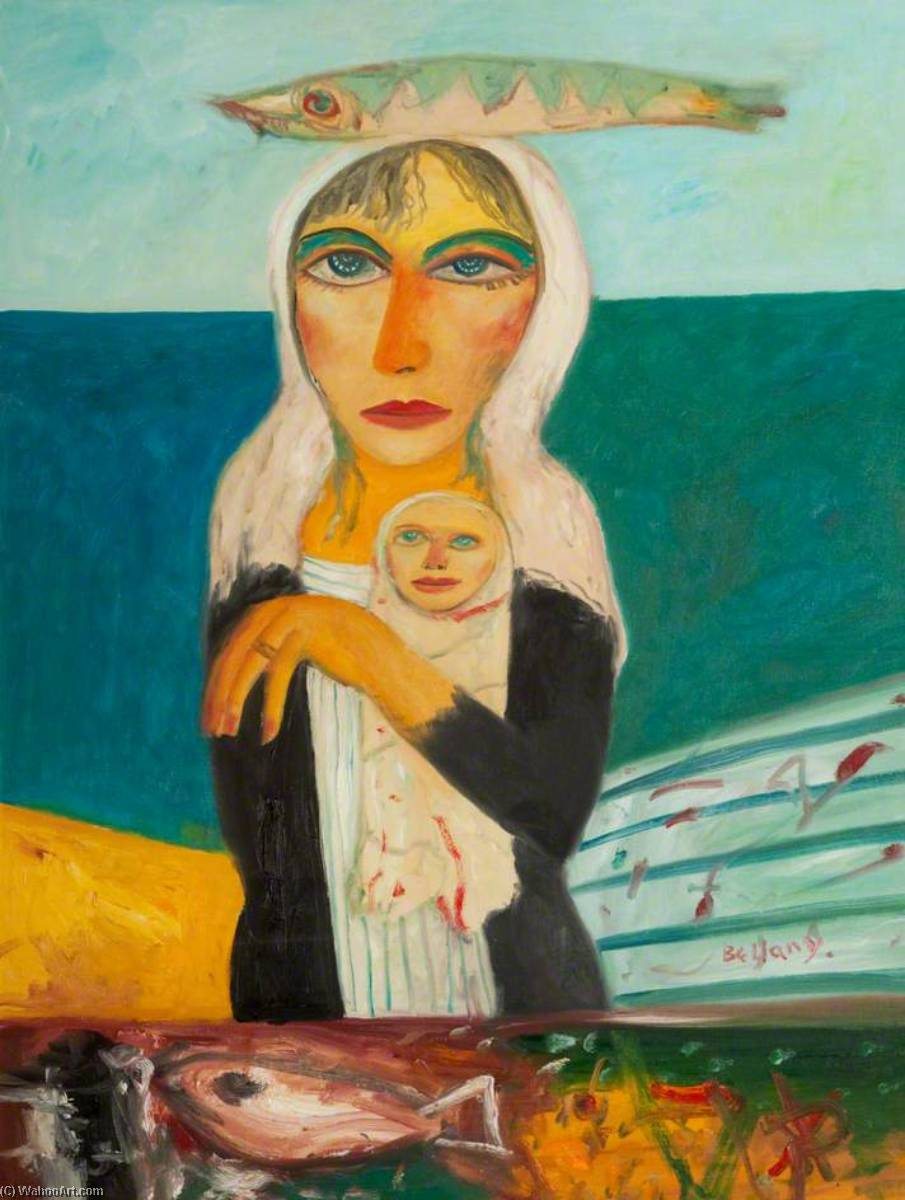 Scottish Mother and Child, 2005 by John Bellany (1942-2013) |  | WahooArt.com