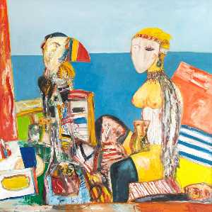 John Bellany - Lovers by the Sea