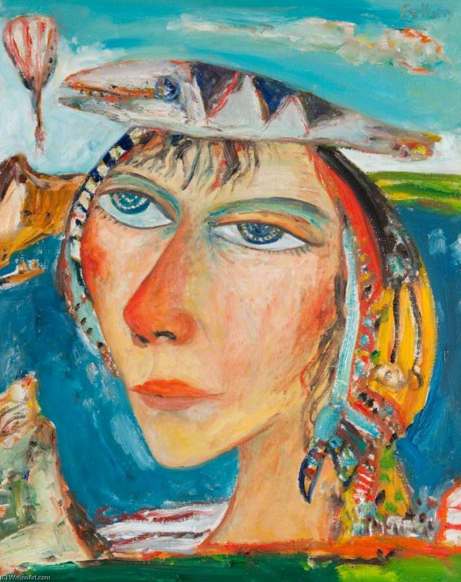 Girl with Fish by John Bellany (1942-2013) | Art Reproduction | WahooArt.com