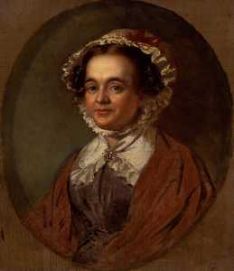 John Lindsay Lucas - Mary Russell Mitford (copy after an original of 1824 by Benjamin Robert Haydon)