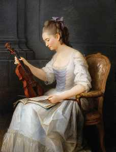 Anne Vallayer Coster - Portrait of a Violinist