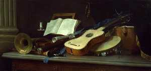 Anne Vallayer Coster - Still Life with Musical Instruments